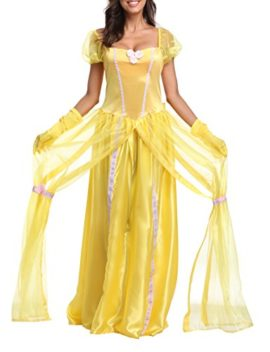 JANES-CUTLE-Womens-Fairytale-Princess-Dress-Halloween-Party-Cosplay-Costume-Yellow-Maxi-Dress-0