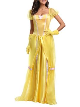 JANES-CUTLE-Womens-Fairytale-Princess-Dress-Halloween-Party-Cosplay-Costume-Yellow-Maxi-Dress-0-3