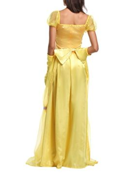 JANES-CUTLE-Womens-Fairytale-Princess-Dress-Halloween-Party-Cosplay-Costume-Yellow-Maxi-Dress-0-4