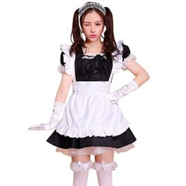 LPATTERN-Womens-Adult-Anime-Cosplay-French-Maid-Apron-Fancy-Dress-Costume-0