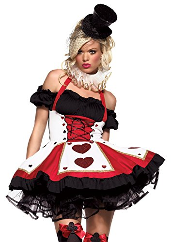 Leg Avenue Women's 2 Piece Pretty Playing Card Costume Includes Dress And Neck Piece