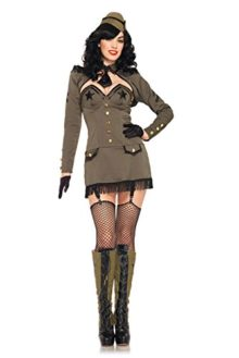 Leg-Avenue-Womens-5-Piece-Pin-Up-Army-Girl-Dress-with-Back-Bow-And-Shrug-0