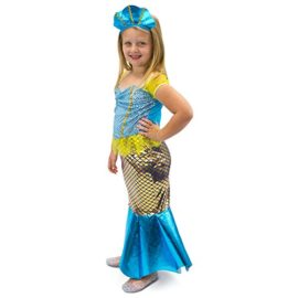 Magnificent-Little-Mermaid-Girls-Halloween-Costume-Dress-Up-Party-Cosplay-0-1