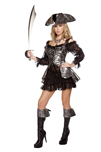 Roma Costume Women's 2 Piece Deadly Pirate Wench
