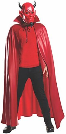 Rubies-Mens-Scream-Queens-Deluxe-Red-Devil-34-Mask-and-Cape-Set-0