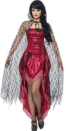 Smiffys-Womens-Gothic-Lace-Cape-0