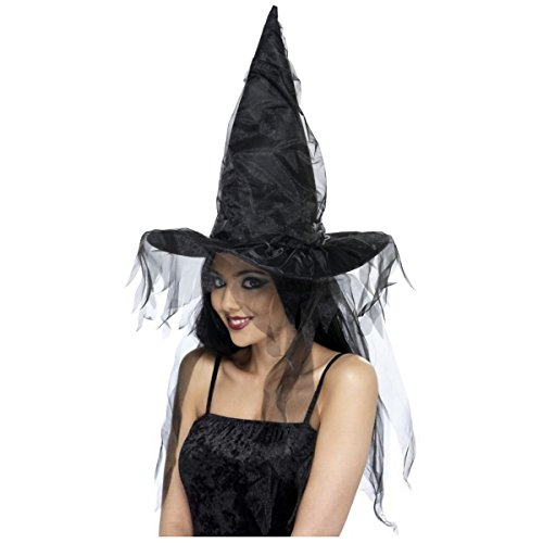 Smiffys Women's Witches Hat with Netting