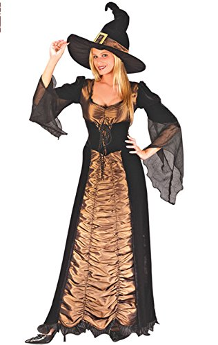 Witch Costume Nuoqi Women's Black Long Cosplay Costume