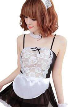 Women-Strapless-Transparent-Sexy-Lingerie-Outfit-Maid-Costume-Cosplay-0