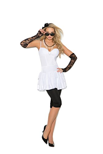 Women's Sexy 80's Rocker Adult Role Play Costume