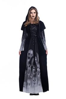 Womens-Witch-Vampire-Costume-Skeleton-Printing-Black-Long-dress-0