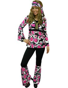 Yummy-Bee-Womens-Hippy-Costume-60s-70s-Flower-Power-Plus-Size-2-14-0