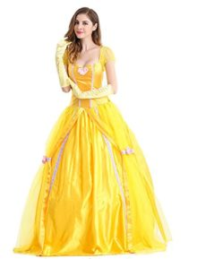 Beautiful-Women-and-The-Beast-Costume-Cosplay-Belle-Princess-Long-Dress-with-Pannier-0