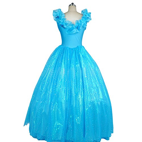 Mtxc-Womens-Cinderella-Cosplay-costume-Cinderella-Dress-One-piece-0-0