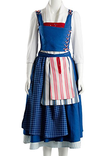 Sidnor Beauty And The Beast Cosplay Costume Belle Dress Ball Gown Party Dress Up Suit Outfit New Version