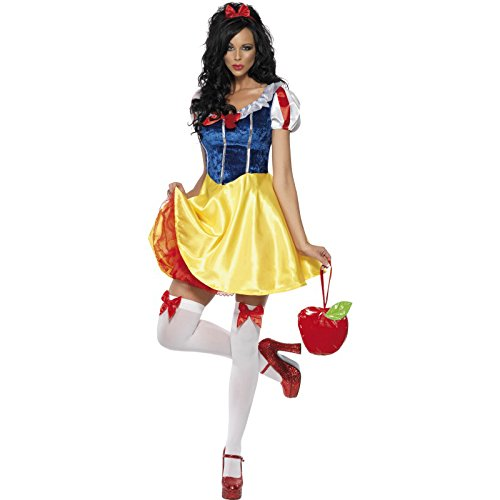 Smiffys Women's Fever Fairy-tale Costume, Dress Attached Underskirt, Headband and Choker, Once Upon a Time, Fever, Size 6-8, 30195