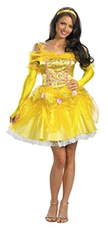 UHC-Womens-Sassy-Princess-Belle-Beauty-And-Beast-Disney-Halloween-Costume-0