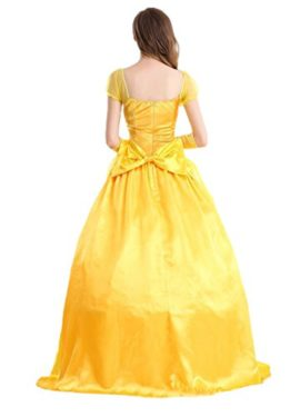 WELVT-Women-Adult-Size-Belle-Costume-Cosplay-Halloween-Party-Show-Dress-with-Gloves-0-0