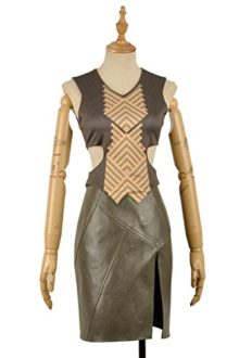 Yejue-Black-Panther-Nakia-Knitted-Printed-Top-Leather-Skirt-0