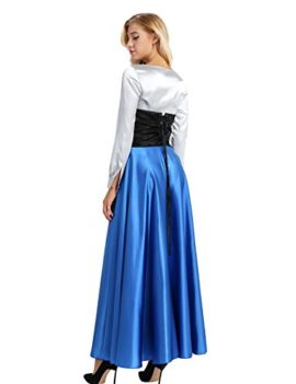 YiZYiF-Adult-Womens-3-Pieces-Little-Mermaid-Ariel-Cosplay-Costume-Princess-Party-Dress-0-3