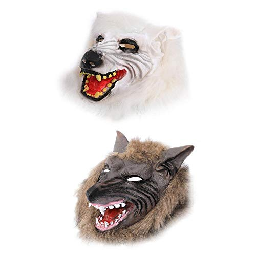 AFfeco Scary Wolf Head Full Face Ghost Head Mask Halloween Masquerade Decoration