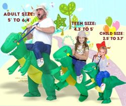ANOTHERME-Dinosaur-Riding-T-REX-Inflatable-Fancy-Dress-Halloween-Party-Blow-Up-Costume-for-Adults-Child-0-1