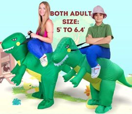 ANOTHERME-Dinosaur-Riding-T-REX-Inflatable-Fancy-Dress-Halloween-Party-Blow-Up-Costume-for-Adults-Child-0-2
