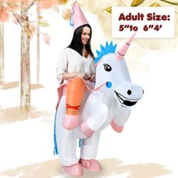 ANOTHERME-Unicorn-Rider-Inflatable-Costume-for-Adults-Child-Halloween-Blow-Up-Fancy-Dress-0-1