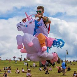 ANOTHERME-Unicorn-Rider-Inflatable-Costume-for-Adults-Child-Halloween-Blow-Up-Fancy-Dress-0-2