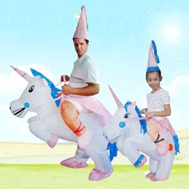 ANOTHERME-Unicorn-Rider-Inflatable-Costume-for-Adults-Child-Halloween-Blow-Up-Fancy-Dress-0-3