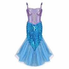 Agoky-Girls-Kids-Little-Mermaid-Princess-Party-Dress-Fairy-Tales-Costume-Cosplay-Fancy-Dress-LavenderSky-Blue-5-6-0