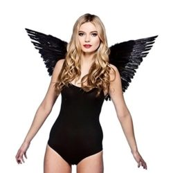 Angel-Costumes-for-Women-Kids-Black-White-Feather-Wings-0-1