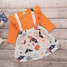 Baby-Halloween-DressLittle-Girls-Long-Sleeve-Tops-Strap-Skirt-2-Piece-Casual-Outfits-Set-0-2