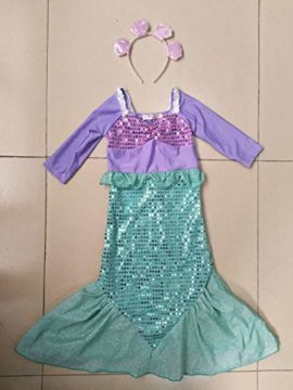 COSAUG-Little-Mermaid-Costume-Christmas-Dress-up-for-Kids-0-2