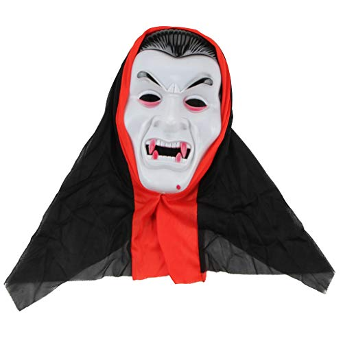Creepy Horror Plastic Facial Mask Face Frightful for Halloween Costume Party