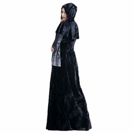 ENQI-TRADE-Womens-Halloween-Ghost-Witch-Hooded-Costume-Cloak-Dress-Outfit-Black-0-2