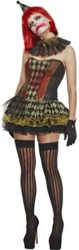 Fever-Womens-Creepy-Zombie-Clown-with-Dress-Hat-Cuffs-and-Collar-0