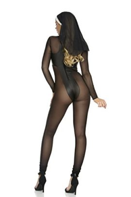 Forplay-Womens-Sinful-Sister-Catsuit-and-Headpiece-0-0