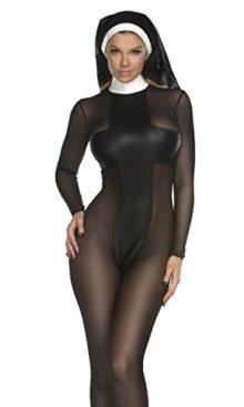 Forplay-Womens-Sinful-Sister-Catsuit-and-Headpiece-0