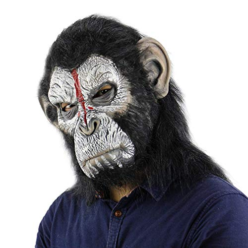 Funny Costume Party Monkey Props,Halloween Gorilla Mask(Dreadful Apeface Masks)