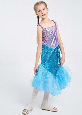 Halloween-Girls-Mermaid-CostumeCute-Animal-Themed-Cosplay-Party-Show-Dress-0-2