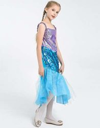Halloween-Girls-Mermaid-CostumeCute-Animal-Themed-Cosplay-Party-Show-Dress-0-3