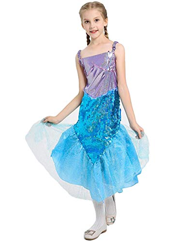 Halloween Girl's Mermaid Costume,Cute Animal Themed Cosplay Party Show Dress
