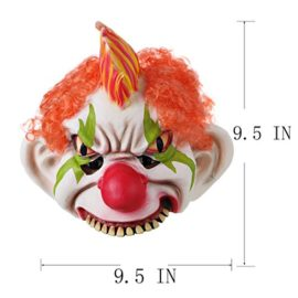 Horror-Evil-Clown-Mask-Chinless-Latex-Adult-Half-Face-Mask-Scary-Head-Red-Nose-Halloween-Prop-0-0