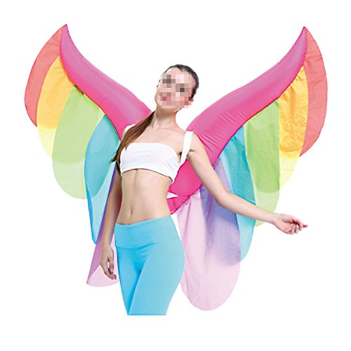 Inflatable Fairy Wing Suit Cosplay Adult Blowup Halloween Costume Fancy Dress