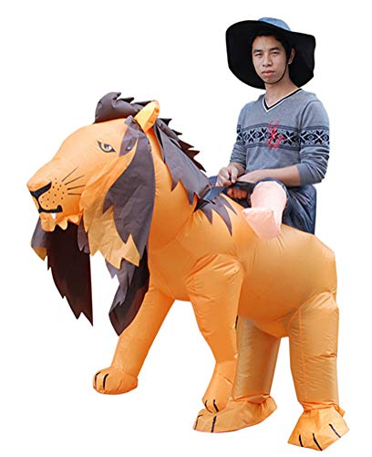Inflatable Lion Costume, Unisex Adults Halloween Riding Animal Cosplay Blow up Costume