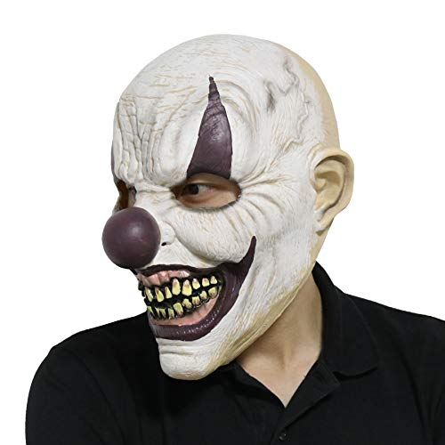 LarpGears Novelty Halloween Costume Party Evil Ghost Funny Clown Mask for Adults