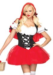 Leg-Avenue-Women-S-Racy-Red-Riding-Hood-Tutu-Peasant-Dress-With-Attached-Hooded-Cape-0
