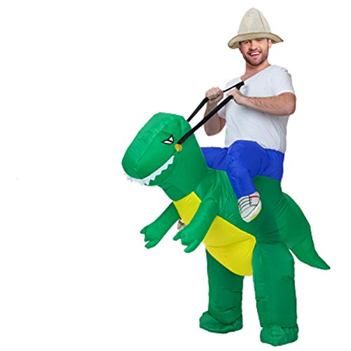Mocona Store holiday adults and children inflatable dinosaur riding clothes