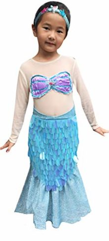 So-Sydney-Deluxe-Girls-Mermaid-Costume-Accessories-Kid-Toddler-Halloween-Dress-Up-0